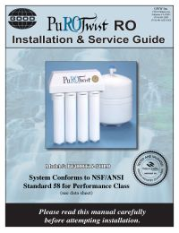 Purotwist 4000 Reverse Osmosis System Fresh Water Systems