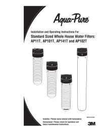 Aqua-Pure AP11T Whole House Filter System – Fresh Water Systems